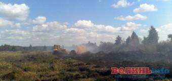 На Волині за вихідні загасили пожежу на 12 гектарах торф'яників