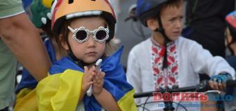 Наймолодші учасники велопробігу у Луцьку. ФОТОРЕПОРТАЖ