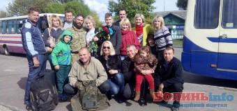 У Нововолинську зустріли бійця, який повернувся з АТО