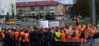 """""""Хочемо, щоб гроші йшли на працівників, а не комусь у кишеню"""", – страйк дорожників у Луцьку"""