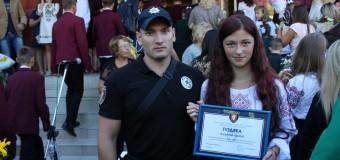 Луцька школярка отримала подяку від патрульних за свідому громадянську позицію