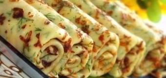 Сирні млинці з зеленню
