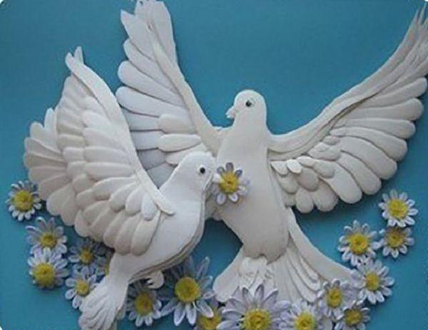 Голубя мира своими руками