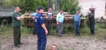 Волинські рятувальники нагадують правила пожежної безпеки під час жнив