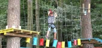 У волинському «таборі Сонячний» для дітей відкрили мотузкове містечко. ФОТО