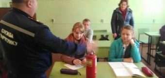 Волинські рятувальники навчають школярів правил пожежної безпеки. ФОТО