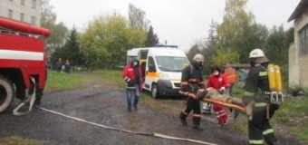 На Волині рятувальники навчалися ліквідовувати наслідки аварії у газовій котельні. ФОТО