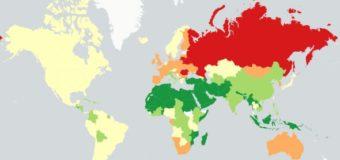 На алкогольній карті світу показали й Україну