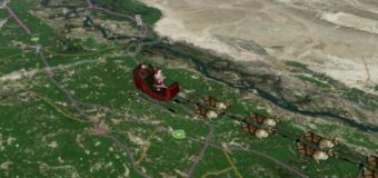 Напередодні Різдва над усім світом пролетить інтерактивний Санта