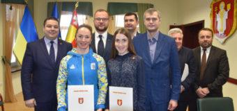 Волинські спортсменки отримали ордери на квартири у Луцьку. ФОТО