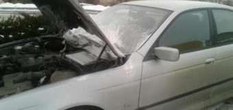 На Волині на АЗС загорівся автомобіль на литовських номерах