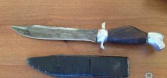 Волинські поліцейські в автомобілі жителя Київської області знайшли саморобний ніж