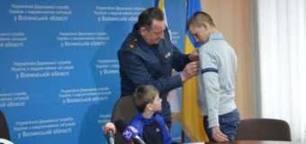 15-річного волинянина,який врятував на льоду другокласника, нагородили медаллю «За мужність та героїзм»