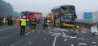 На півдні Польщі пасажирський автобус з українцями потрапив у ДТП