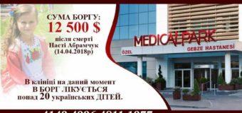 Понад 12 тисяч доларів боргують турецькій клініці батьки покійної Настусі Абрамчук