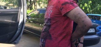 Оприлюднили відео затримання зловмисника, який у Луцьку пограбував авто