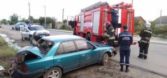 На Волині рятувальники запобігли загорянню автомобіля, який потрапив у ДТП
