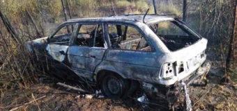 """Біля """"Ягодина"""" горіла автівка. Водій отримав 30 відсотків опіків поверхні тіла"""