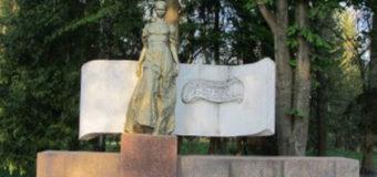 У Луцькому парку невідомі поскидали у фонтан лавки та смітники