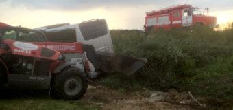 На Волині рятувальники ліквідували наслідки ДТП, в яку потрапив автобус міжнародного сполучення