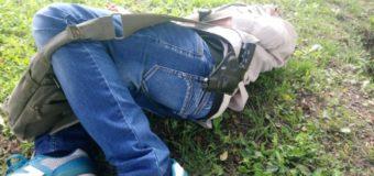 У Луцьку на газоні лежав п'яний чоловік зі зброєю