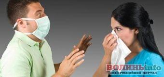 Волинь: Захворюваність на грип  нижча епідпорогу