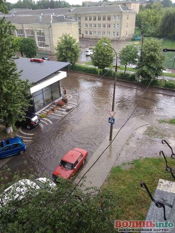 затоплені вулиці Луцька