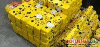 Тонну сиру намагалися провести через кордон України