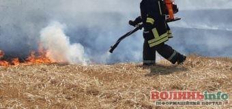 17 пожеж за добу на Волині – і все це справа рук людини