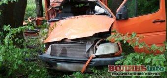 ДТП у Луцькому районі: «Mercedes» врізався у дерево, є постраждалі